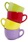 Set of colorful mugs Royalty Free Stock Photo