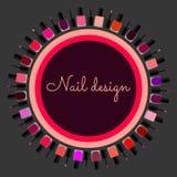 Set of colorful nail polish. Royalty Free Stock Photo