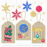 Set of colorful New Year Sale labels Royalty Free Stock Images