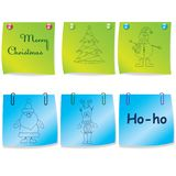 Set of colorful note paper.Vector illustration Royalty Free Stock Photos