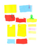 Set of colorful notepaper on white Stock Photography