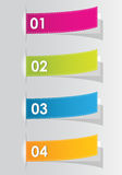 Set of colorful numbered stickers Stock Photography