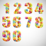 Set with colorful numbers. Illustration with set of colorful numbers Stock Photography