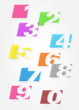 Set of colorful numbers. Royalty Free Stock Images