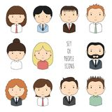 Set of colorful office people icons. Businessman Royalty Free Stock Photography