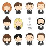 Set of colorful office people icons. Businessman Stock Photography