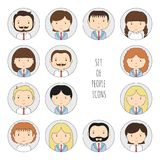 Set of colorful office people icons. Businessman Royalty Free Stock Images