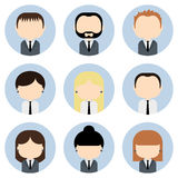 Set of colorful office people icons. Businessman. Businesswoman. Royalty Free Stock Photos