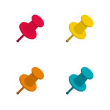 Set of colorful office push pins Royalty Free Stock Image