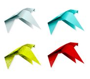 Set of colorful origami bird. EPS 10 Stock Photography