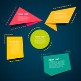Set of colorful origami labels for your text. Vector design elements. Stock Photography