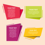 Set of colorful origami labels for your text. Vector design elements. Royalty Free Stock Photo