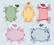 Set of colorful ornate labels Stock Photography