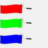 Set of colorful paint roller brushes. RGB vector illustration. Royalty Free Stock Image