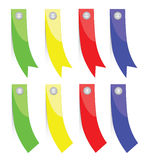 Set of colorful paper banners Stock Images