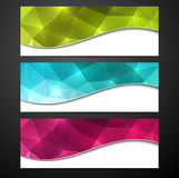 Set of colorful paper banners. Royalty Free Stock Photos