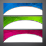 Set of colorful paper banners. Stock Photos