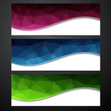 Set of colorful paper banners. Royalty Free Stock Image