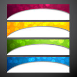 Set of colorful paper banners. Stock Photography