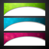 Set of colorful paper banners Stock Image