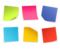 Set of  colorful paper notes. Vector illustration royalty free illustration