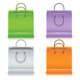 Set of the colorful paper shopping bags Stock Image