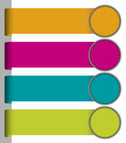 Set of colorful paper tags Stock Photography
