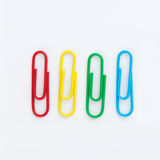 Set of Colorful paperclip. Isolated on white background Royalty Free Stock Image