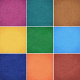 Set of colorful papers Stock Images