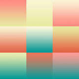 Set of colorful pastel abstract backgrounds gradients. For mobile app, book cover, booklet, background, poster, web sites, annual reports. Illustration Royalty Free Stock Photography