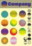 Set of colorful pattern for making emblems Royalty Free Stock Photo