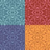 Set of colorful patterns (seamlessly tiling) Stock Photo