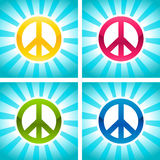 Colorful Peace Signs Royalty Free Stock Photo