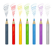 Set of colorful pencil Royalty Free Stock Photos