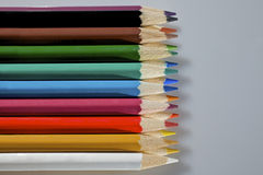 A set of colorful pencils Royalty Free Stock Images