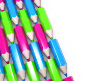 Set of colorful pencils Royalty Free Stock Image