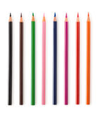 Set  of colorful pencils. Collection of colorful pencils isolated on white background Stock Photo