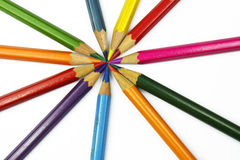 Set of colorful pencils isolated on white background Royalty Free Stock Photography