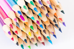 Set of colorful pencils on a white background Royalty Free Stock Photos