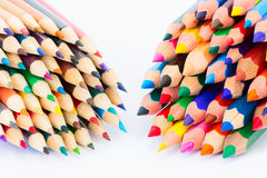 Set of colorful pencils on a white background Stock Image