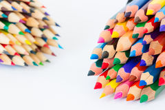 Set of colorful pencils on a white background Stock Images