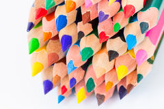 Set of colorful pencils on a white background Stock Photos