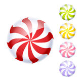 Set of colorful peppermint candies. Stock Image