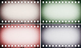 Set of colorful photo, picture film strips Stock Image