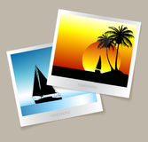 Set of colorful photos from the holidays Royalty Free Stock Photo
