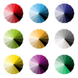 Set of colorful pieces palette. On white background Stock Images