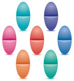 Set of colorful pills Royalty Free Stock Photography