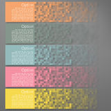 Set of Colorful Pixel Banners Royalty Free Stock Photos