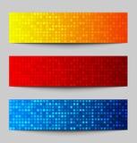 Set of Colorful pixel banners. Vector illustration vector illustration