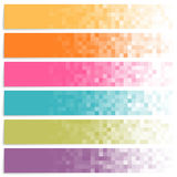 Set of colorful pixel banners Stock Photography